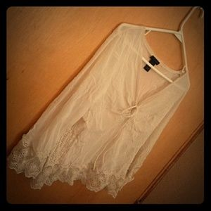 The Limited Gauze and Lace Poet Shirt